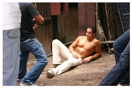Felipe Folgosi having his picturetaken