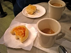 Tea and crumpets at the market